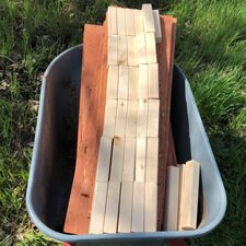 Wood for Stackable Compost Bins