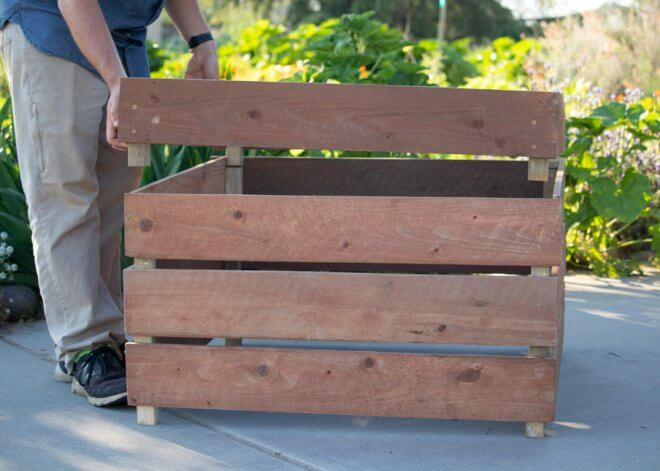 DIY Stackable Compost Bin