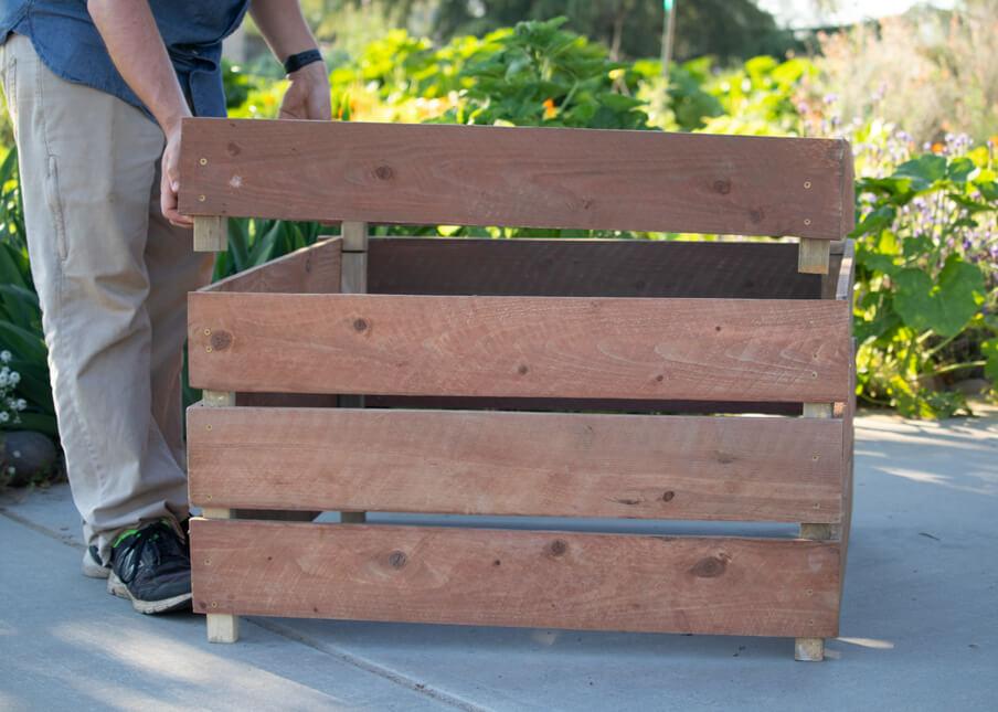 DIY Stackable Compost Bin